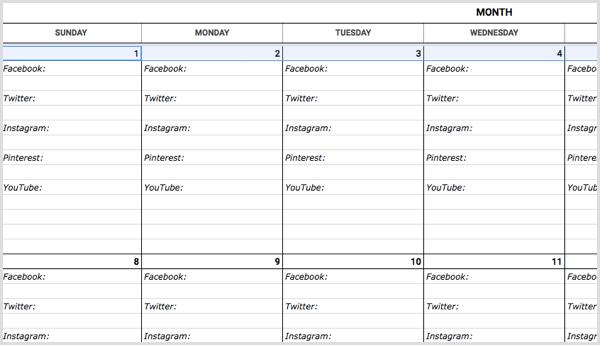 How To Create A Social Media Calendar A Template For