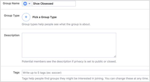 Facebook group edit settings