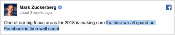 Facebook algorithm priority
