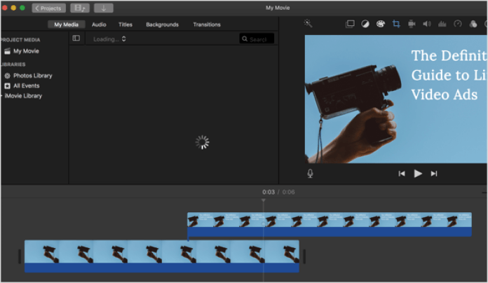 Use a video editing program like iMovie to create the video for your LinkedIn ad.