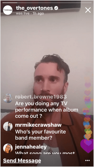 Instagram Live AMA with customer questions.