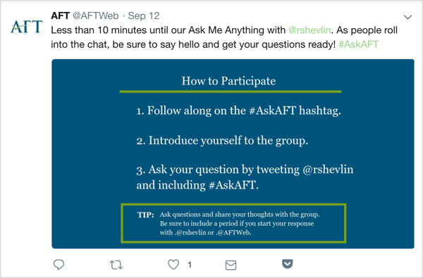 Twitter tweet with details about upcoming AMA.