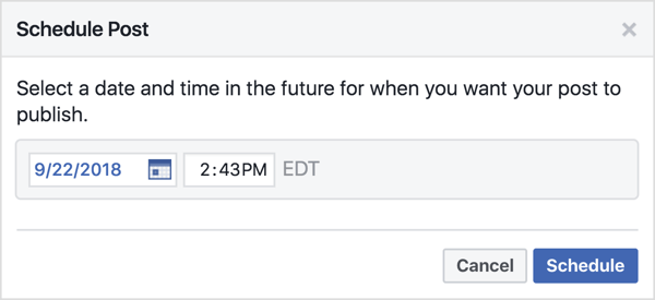 Facebook allows admins to schedule group posts, so you can plan these promotions in advance.