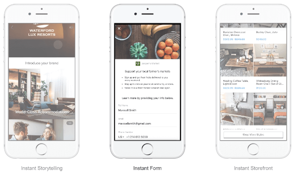Facebook Canvas Ads are now called Instant Experiences and come with a few more capability along with the update.