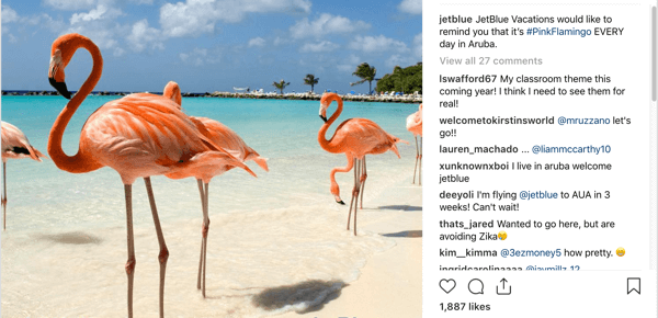 This Instagram post shows a beautiful photo of a beach.