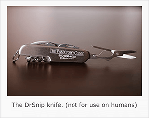 This is a screenshot of the DrSnip pocketknife. Jay Baer says the knife is an example of a talk trigger.