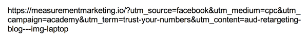 Separate each UTM parameter with an ampersand.