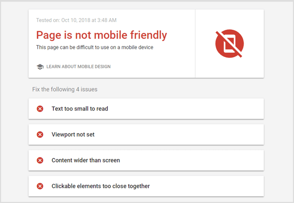 Run a Google Mobile-Friendly Test to optimize your landing page.