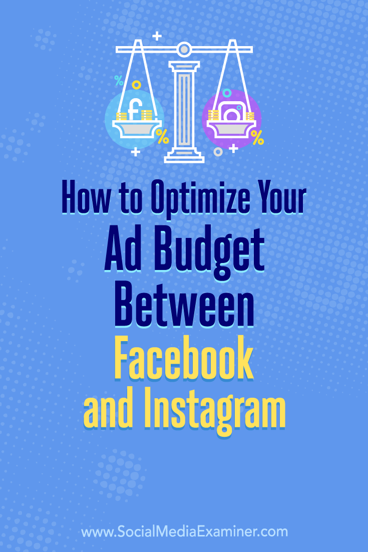 Learn how to use Facebook's split test feature to reveal how best to distribute your ad budget between Facebook and Instagram.