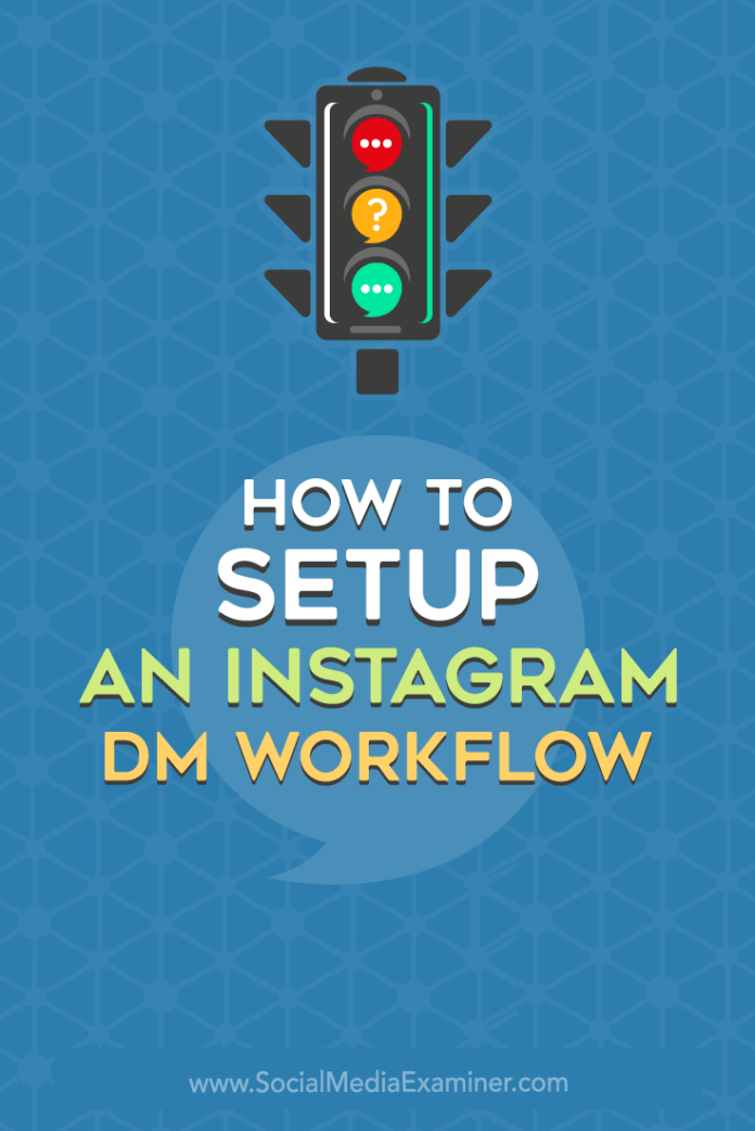Learn how to set up an Instagram DM workflow that lets you professionally and successfully manage direct messages for business.