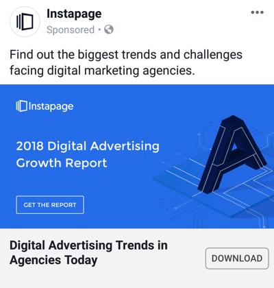 Facebook advertentietechnieken die resultaten opleveren, bijvoorbeeld door Instapage die casestudy aanbiedt