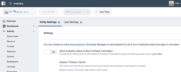 Crea un gruppo di fonti di eventi per trarre dati comportamentali dalle tue fonti di marketing.