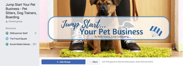 Crea il tuo gruppo o unisciti a uno dei tanti gruppi di Facebook formati nel tuo settore.