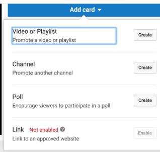 استخدم بطاقات YouTube لتوسيع وقت مشاهدة قناتك.