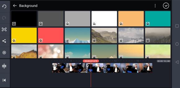 حدد لون الخلفية في تطبيق Kinemaster للجوال