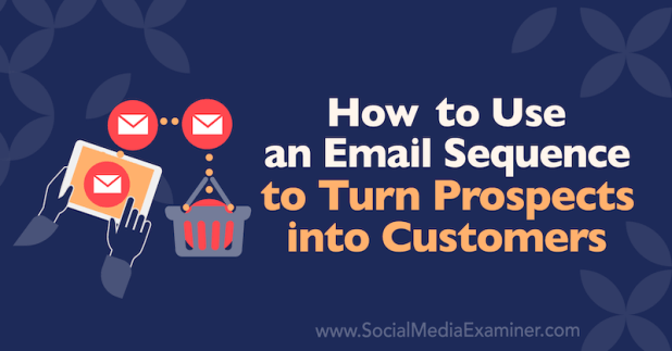 How to Use an Email Sequence to Turn Prospects Into Customers by Dana Malstaff on Social Media Examiner.