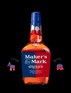 Maker\'s Mark\'s Blue-White-Red Limited Edition Bottle