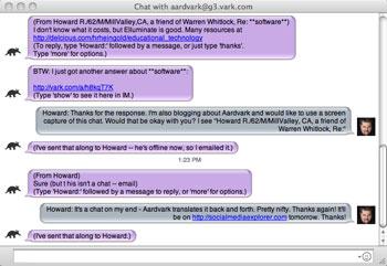Aardvark Chat Session