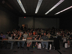 Shot from the stage at Bloggers-PR panel