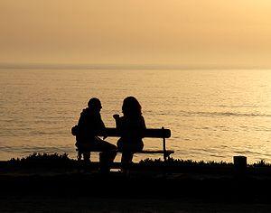 Talking in the evening. Porto Covo, Portugal