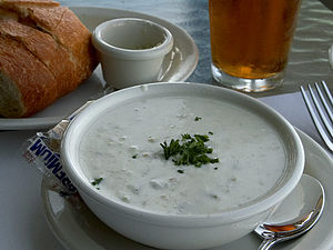 New England clam chowder. Source: http://pdpho...