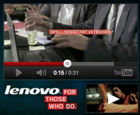A Lenovo ad that recently appeared on Mashable.com