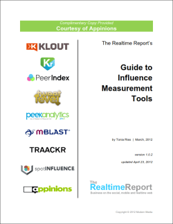 Appinions Guide to Influence Measurement Tools