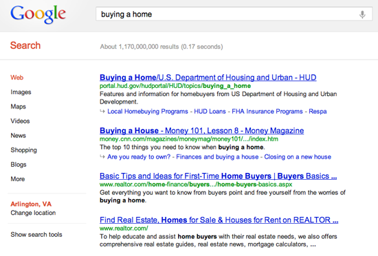 google-search-buying-a-home