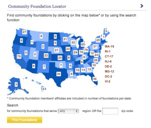 Image of Council on Foundation's Community Foundation Locator - for Social Media Explorer's #GIvingTuesday