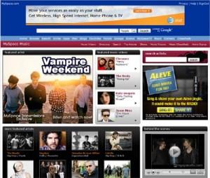 MySpace Music Page
