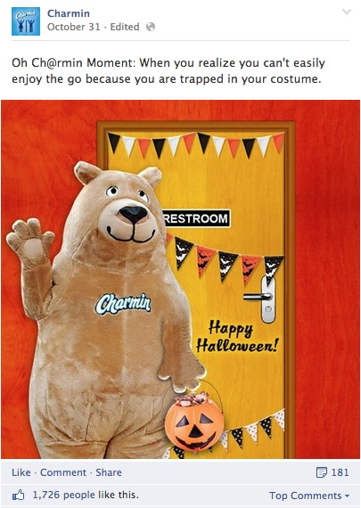 Charmin's Halloween Facebook Post