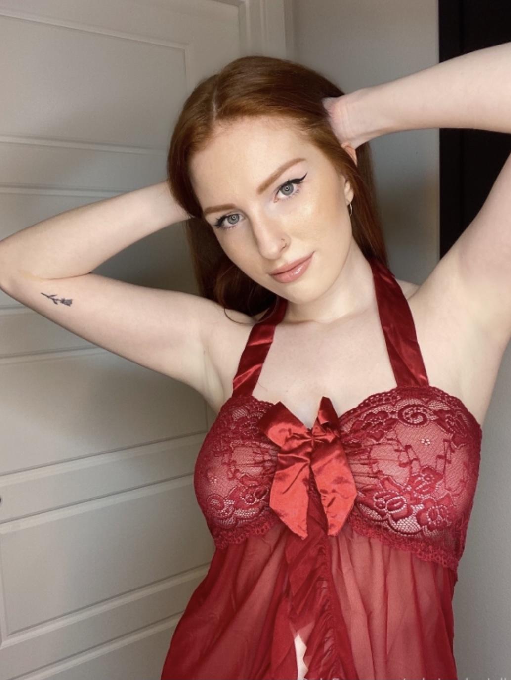 Sabrina Danielle Red Lingerie
