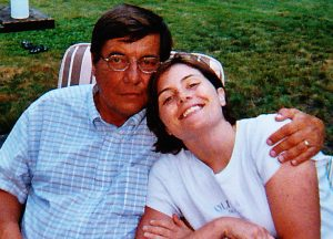 My father and I the second to last time I saw him before his death in 2005