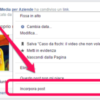 Embedded post: come (e quando, e perché) incorporare un post di facebook