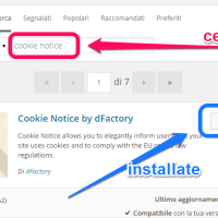 Normativa sui cookie - un plugin per wordpress