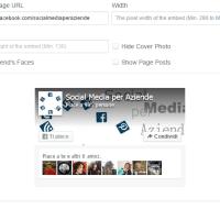 Come incorporare una pagina Facebook nel sito