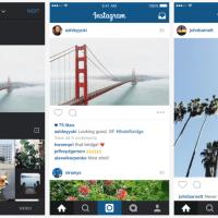 Instagram cede al... rettangolo!