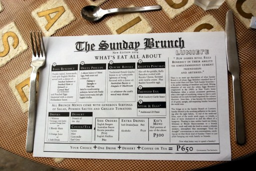 Sunday Brunch Newspaper Large