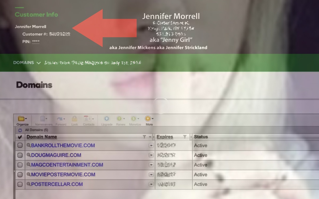 Real JennyGirl STOLE Doug Maguire's Domain Names and e-mail Accounts