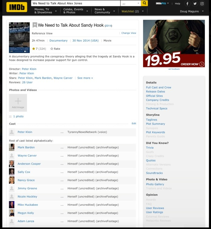 IMDb - We Need to Talk About Sandy Hook