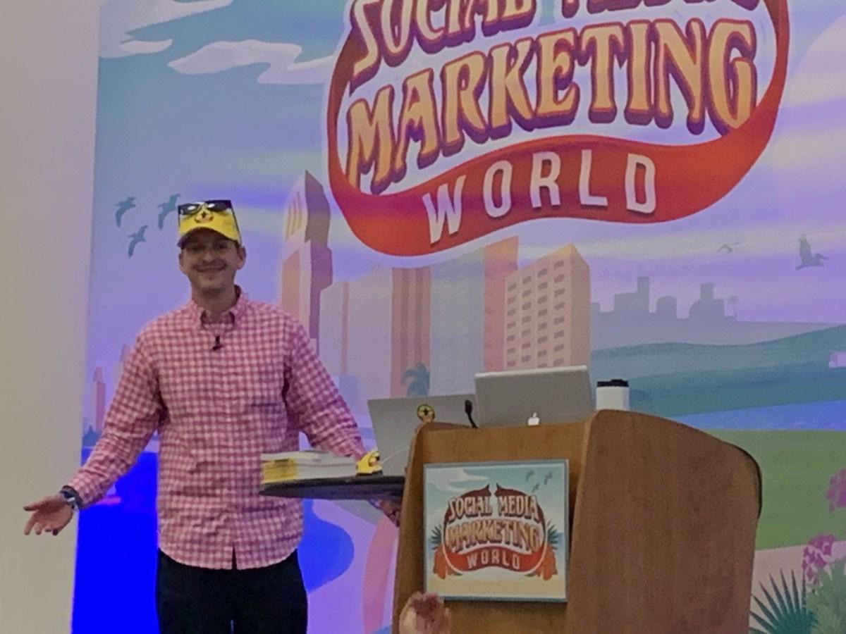 Chris Strub speaking at Social Media Marketing World
