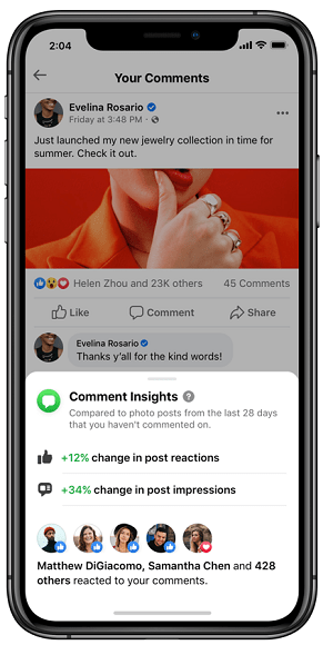Facebook comment insights
