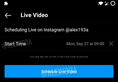 Live programming on Instagram