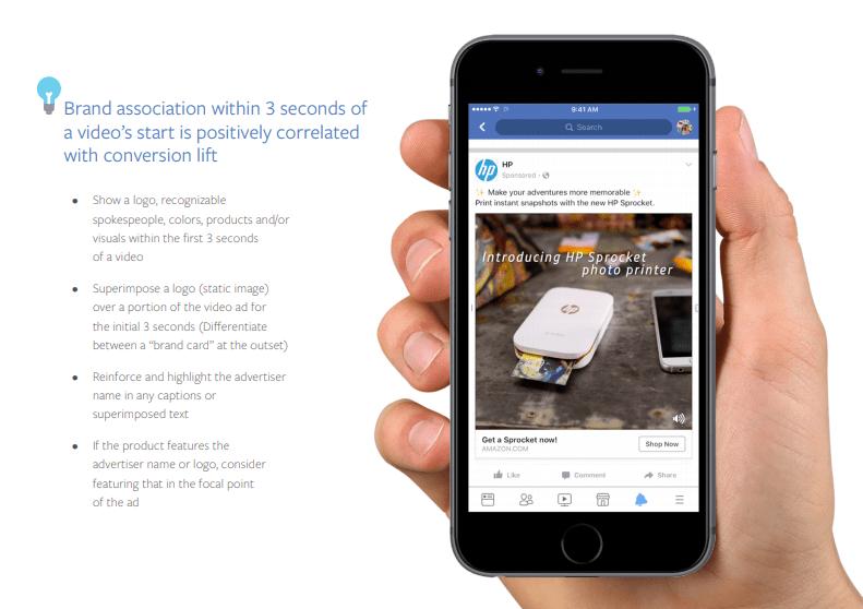 Hình ảnh từ hướng dẫn quảng cáo mới của Facebook