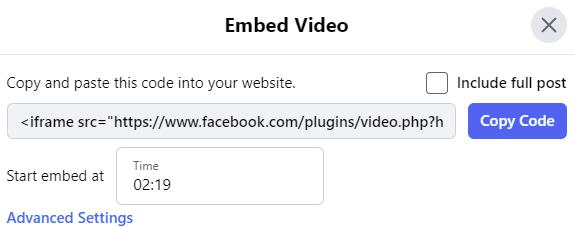 Intégrer une vidéo sur Facebook