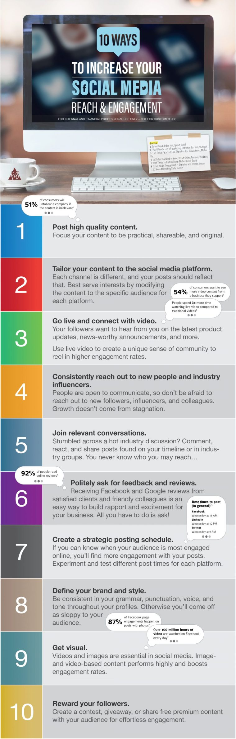 Infographic provides tips on how to use social for business