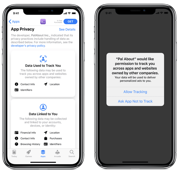 Apple iOS Data Tracking Prompt