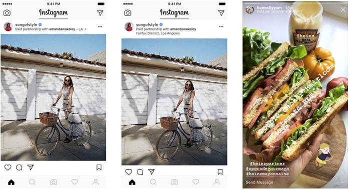 Instagram partner tags