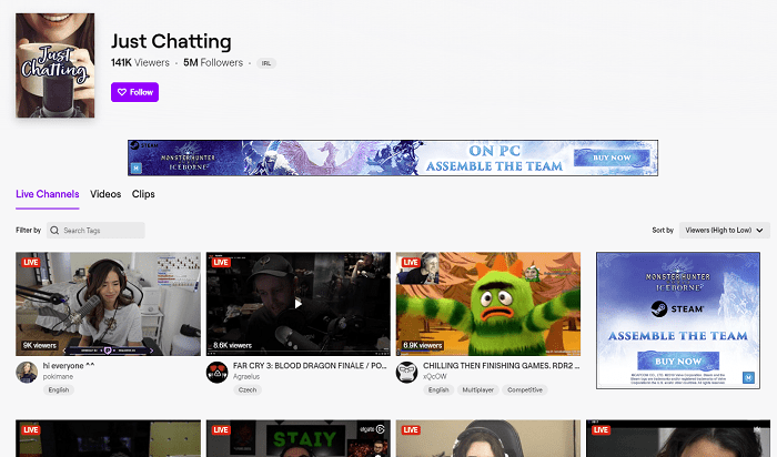Twitch 'Just Chatting'