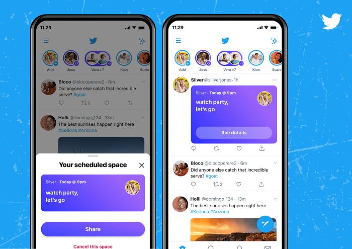 Planification des spaces Twitter